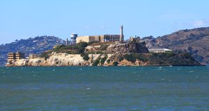 Alcatraz Island, a view from San Francisco royalty free stock photography