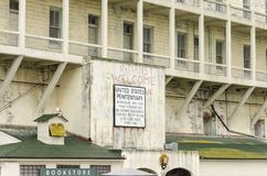 Alcatraz island sign, San Francisco, California Stock Image