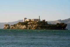 Alcatraz island sunset and mountain Royalty Free Stock Images