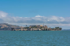 Alcatraz Island. A view of the Alcatraz Island in the bay of San Francisco Stock Photos