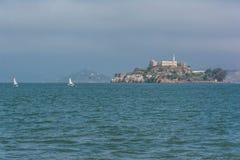 Alcatraz Island. A view of Alcatraz Island from San Francisco Royalty Free Stock Images