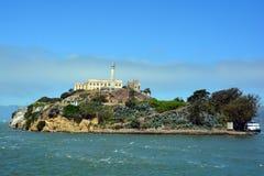 Alcatraz la roca Imágenes de archivo libres de regalías