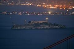 Alcatraz. Ariel view of Alcatraz in the evening Stock Photography
