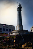 Alcatraz Lighthouse. The working Lighthouse positioned on Alcatraz Island in San Francisco Bay Royalty Free Stock Images