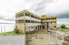 Alcatraz modell Industries Building, San Francisco, Kalifornien Royaltyfria Bilder