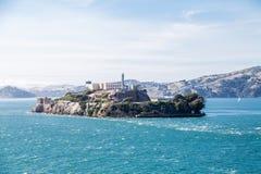 Alcatraz na słonecznym dniu Obraz Stock