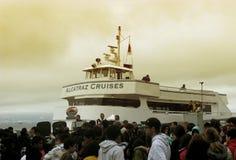 alcatraz pływać statkiem Francisco San Fotografia Royalty Free