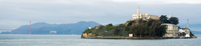 Alcatraz panorama Fotografia Stock