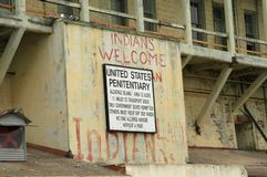 Alcatraz penitentiary royalty free stock image