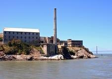 alcatraz podpalana California Francisco wyspa San Fotografia Stock