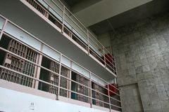 Alcatraz Prison Cell Royalty Free Stock Photography