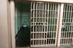 Alcatraz Prison Cell Stock Photo