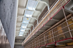 Alcatraz Prison Cell Block Royalty Free Stock Images