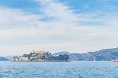 Alcatraz prison Island in San Francisco USA with blue sky Stock Images