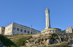 Alcatraz Prison and lighthouse Royalty Free Stock Image