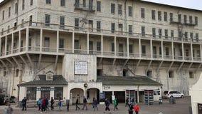 Alcatraz prison sally port stock video