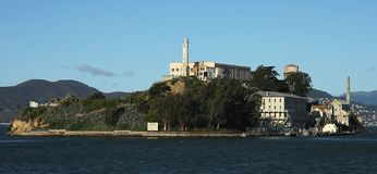 Alcatraz prison, San Francisco bay. Royalty Free Stock Photography