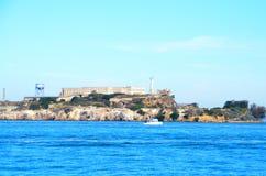 Alcatraz Prison in San Francisco, California. Alcatraz, a historic penitentiary and popular tourist destination on an island in the San Francisco Bay stock image