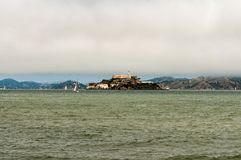 Alcatraz Prison on San Francisco Harbor stock photos