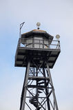 Alcatraz Prison Watch Tower. San Francisco, California stock photography