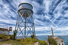 Alcatraz Prison Water Tower Royalty Free Stock Photography