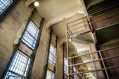 Alcatraz Prison Windows Royalty Free Stock Photo