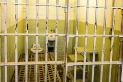 ALCATRAZ - SAN FRANCISCO - 05 JUNE 2017- Cell of Alcatraz Prison royalty free stock photos