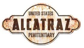 Alcatraz San Francisco Sign Photo stock
