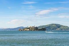 Alcatraz San Francisco, USA 2016 04 20: Alcatraz ö på soligt arkivbild