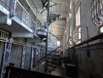 Alcatraz in San Fransico inside the jail royalty free stock photos