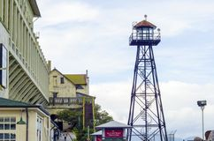 Alcatraz strażowy wierza, San Fransisco, Kalifornia Zdjęcie Royalty Free