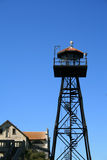 alcatraz strażowy wyspy wierza Zdjęcie Royalty Free