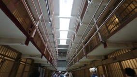 Alcatraz touristic tour stock footage