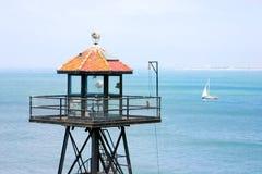Alcatraz Uhr-Kontrollturm Stockfotos