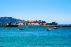 Alcatraz view from fisherman wharf, San Francisco stock photos