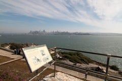 Alcatraz. View of San Francisco from Alcatraz Stock Photos