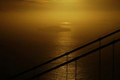 Alcatraz in zonsopgang Royalty-vrije Stock Afbeeldingen