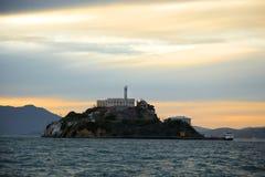Alcatraz w San Fransisco zatoce Zdjęcia Royalty Free