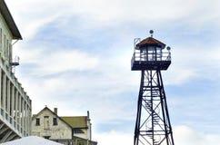 Alcatraz-Wachturm, San Francisco, Kalifornien Stockbild