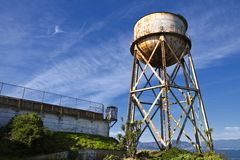 Alcatraz Water Tower Royalty Free Stock Photography