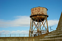 Alcatraz Water Tower Stock Images
