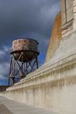 Alcatraz water tower. USA, San Francisco- Alcatraz water tower Stock Image