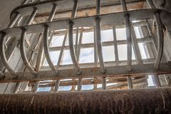Alcatraz więzienia okno Zdjęcia Royalty Free