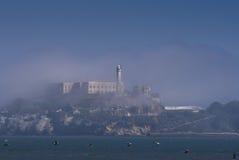 Alcatraz y pájaros Fotografía de archivo libre de regalías