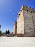 Alcazaba军事季度阿尔汉布拉,西班牙。 图库摄影