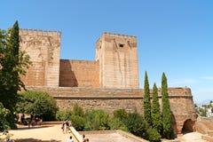 Alcazaba在格拉纳达 库存图片
