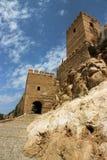 Alcazaba在阿尔梅里雅;安达卢西亚;西班牙 免版税库存图片