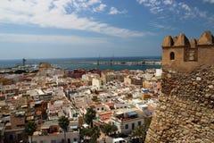 Alcazaba在阿尔梅里雅;安达卢西亚;西班牙 库存照片