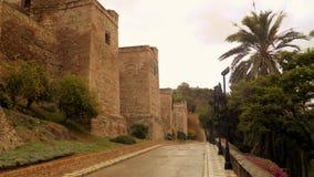 alcazaba的墙壁 库存图片