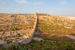 alcazaba阿尔梅里雅古老堡垒穆斯林 库存图片